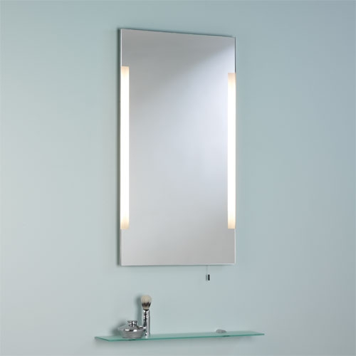 Overhead integrated illuminated wall mirror 45 60 80 for Mirror 120 x 80
