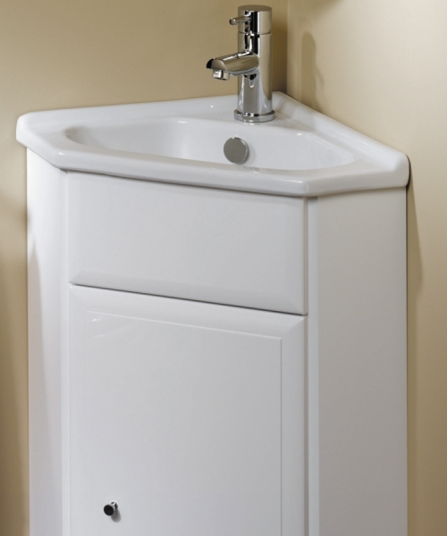 Gelcast corner washbasin unit 40 utopia utopia b p m for Bathroom wash basin with cabinet