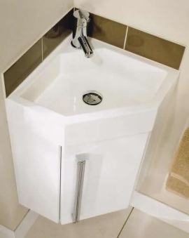Corner Wash Basin : Gelcast Corner Washbasin Unit 40 - Utopia Utopia - B.P.M Bathrooms Ltd