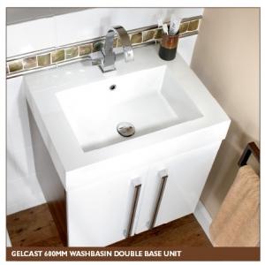 Gelcast Washbasin double base unit 60 - 80