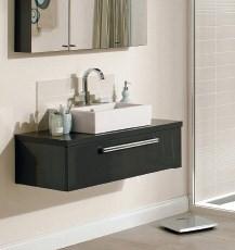 Ceramic washbasin sit on single drawer unit 60 - 80 - 100