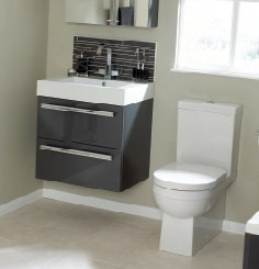 Gelcast Washbasin double drawer unit 60 - 80 - 100