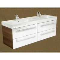 Twin Gelcast Washbasin double drawer unit 120 - 160