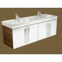 Twin Gelcast washbasin double base unit 160 - 120