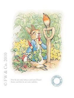 Beatrix Potter Peter Rabbit Eating Radishes Beatrix
