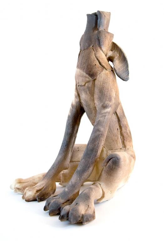 Large Dog Howling Virginia Dowe Ceramics Fenwick Gallery