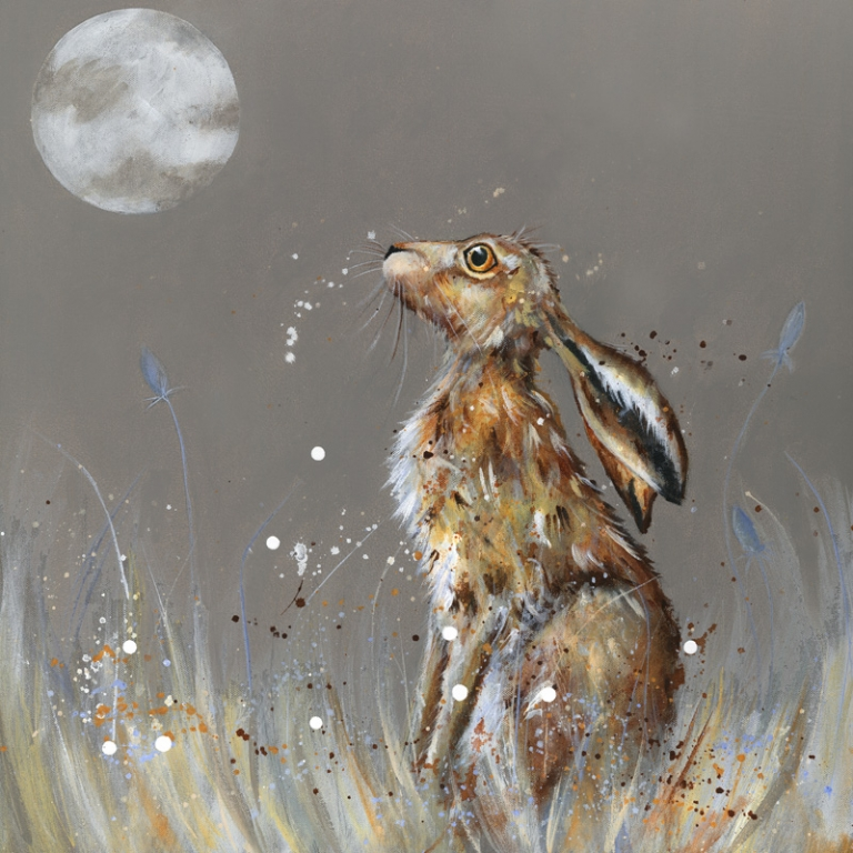 Midnight Hare Canvas Prints Fenwick Gallery