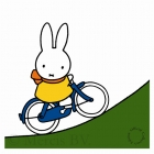 Miffy on a bike