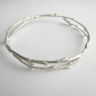 Arctic Twig Bangle