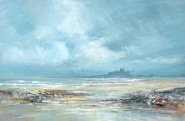 Bamburgh from Stag Bay - Original Painting