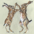 Boxing Hares - Print