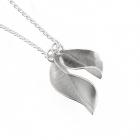 Forged Leaf Pendant