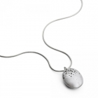 Kate Smith Hollow Domed Silver Necklace