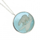 Polar Bear Disc Necklace
