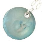 Polar Bear Disk Necklace