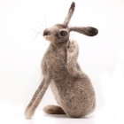 Scratching Felted Hare