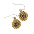 Small Sunflower Drop Earrings