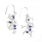 Twist Earrings Sapphire
