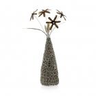 Wire Knit Vase & Flowers