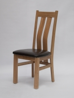 Oxford Oak Wave Chairs Pair