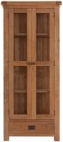 Forest Oak Glass Display Cabinet