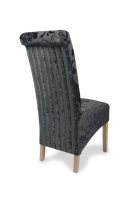 Modern Black Fabric Dining Chair