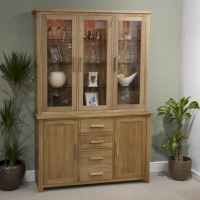 Oxford large sideboard glass top