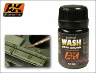 AK DARK BROWN WASH FOR GREEN VEHICALS #AK045