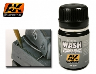 AK BROWN  BLUE WASH FOR PANZER GREY #AK70