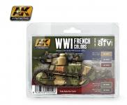 AK FRENCH WWI PAINT SET #AK 4050
