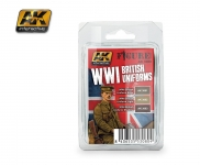 AK WWI BRITISH UNIFORM PAINT SET #3080