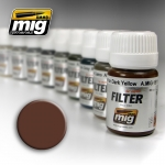 MIG AMMO BROWN FOR WHITE FILTER #MIG1500