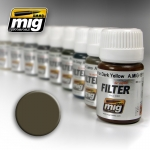 MIG AMMO DARK GREY FOR WHITE FILTER #MIG1502