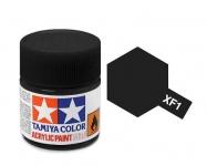 TAMIYA ACRYLIC XF-1 FLAT BLACK (1Oml)