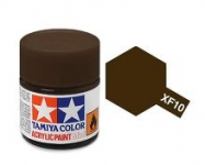 TAMIYA ACRYLIC XF-10 FLAT BROWN(1Oml)