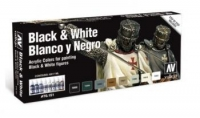VALLEJO BLACK & WHITE COLOUR SET #70.151