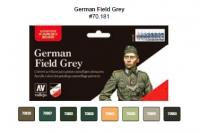 VALLEJO GERMAN FIELD GREY PAINT SET #78181