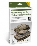 VALLEJO WEATHERING SET FOR YELLOW / GREY VEHICALS AFV WEATHERING SYSTEM 78.405