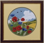 Anchor Long Stitch Kit - Poppies & Cornflowers