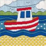 Anchor Long Stitch Starter Kit - Boat