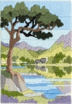 Derwentwater Long Stitch Kit - Seasons/Mountain Summer