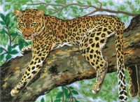 Grafitec Printed Tapestry/Needlepoint � Lazing Leopard