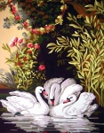 Grafitec Printed Tapestry/Needlepoint � Swans in the Shade
