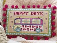 HS Needlepoint/Tapestry Sampler Cushion Kit � Happy Days