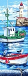 Margot de Paris Tapestry/Needlepoint � Boats at Rest (Les Bateaux)