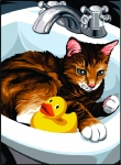 Margot de Paris Tapestry/Needlepoint � Cat in the Sink