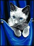 Margot de Paris Tapestry/Needlepoint � Kitten in Pocket
