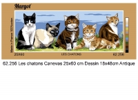 Margot de Paris Tapestry/Needlepoint � Kittens