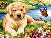 Margot de Paris Tapestry/Needlepoint � Labrador Puppy