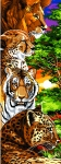 Margot de Paris Tapestry/Needlepoint � Safari Big Cats